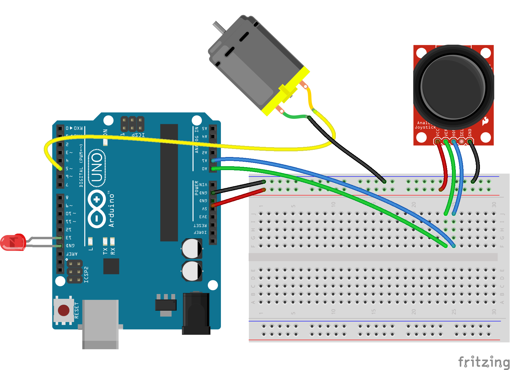Servo motor control in Arduino code, circuits